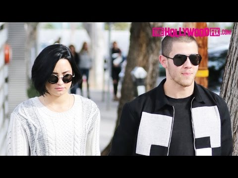 Demi Lovato & Nick Jonas Go On A Lunch Date Together In West Hollywood 1.27.16
