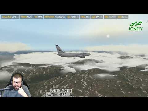 Pilotedge Group Flight KLAS KJAC Part 3 Descent and Landing