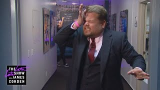 James Corden Is Surrounded by Safety at CBS