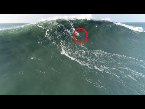 This Is the Only Drone Footage of Tom Butler's Potential World Record Wave at Nazaré