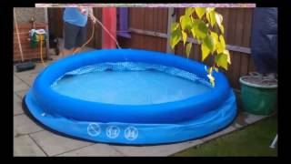 видео Монтаж надувного бассейна