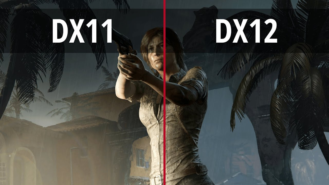 SHADOW OF THE TOMB RAIDER - PC 1080p DX11 vs DX12 (DirectX 11 vs DirectX 12)