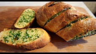Чесночный хлеб к пиву за 15 минут