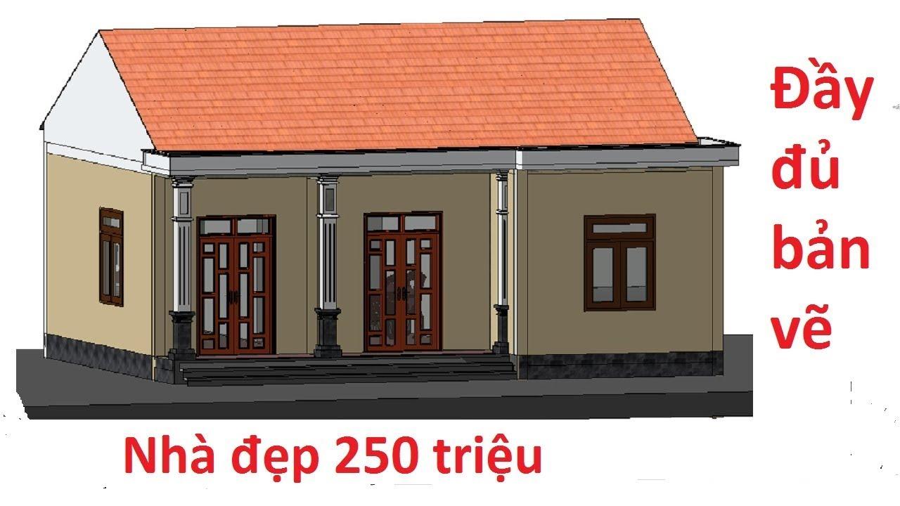 Nhà cấp 4 nông thôn giá 250 triệu đơn giản và tiện nghi