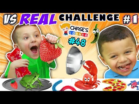 Thumbnail: GUMMY vs. REAL FOOD CHALLENGE! LIVE Animals SCARES, PRANKS & FUN (Chase's Corner #48 DOH MUCH FUN)