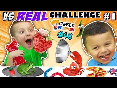 GUMMY vs. REAL FOOD CHALLENGE! LIVE Animals SCARES, PRANKS & FUN (Chase