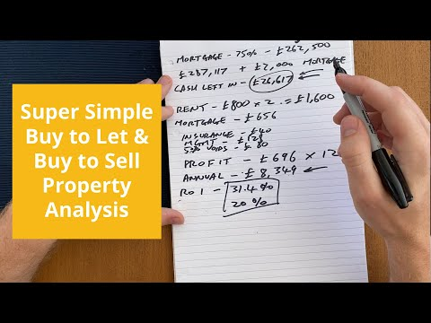 Simple Buy to Let & Flip Property Analysis