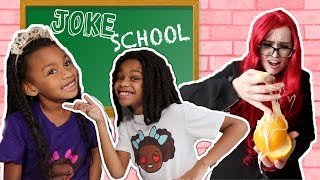 PRANK SCHOOL Substitute Teacher's First Day! Sneaking in Class - New Slime School