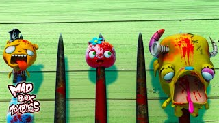 Zumbis Em Desenhos Animados Ar Dentro Do Corpo De Mince Mad Box Zombies