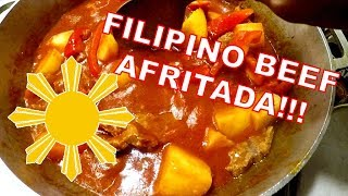 HOW TO COOK FILIPINO FOOD | BEEF AFRITADA MUKBANG