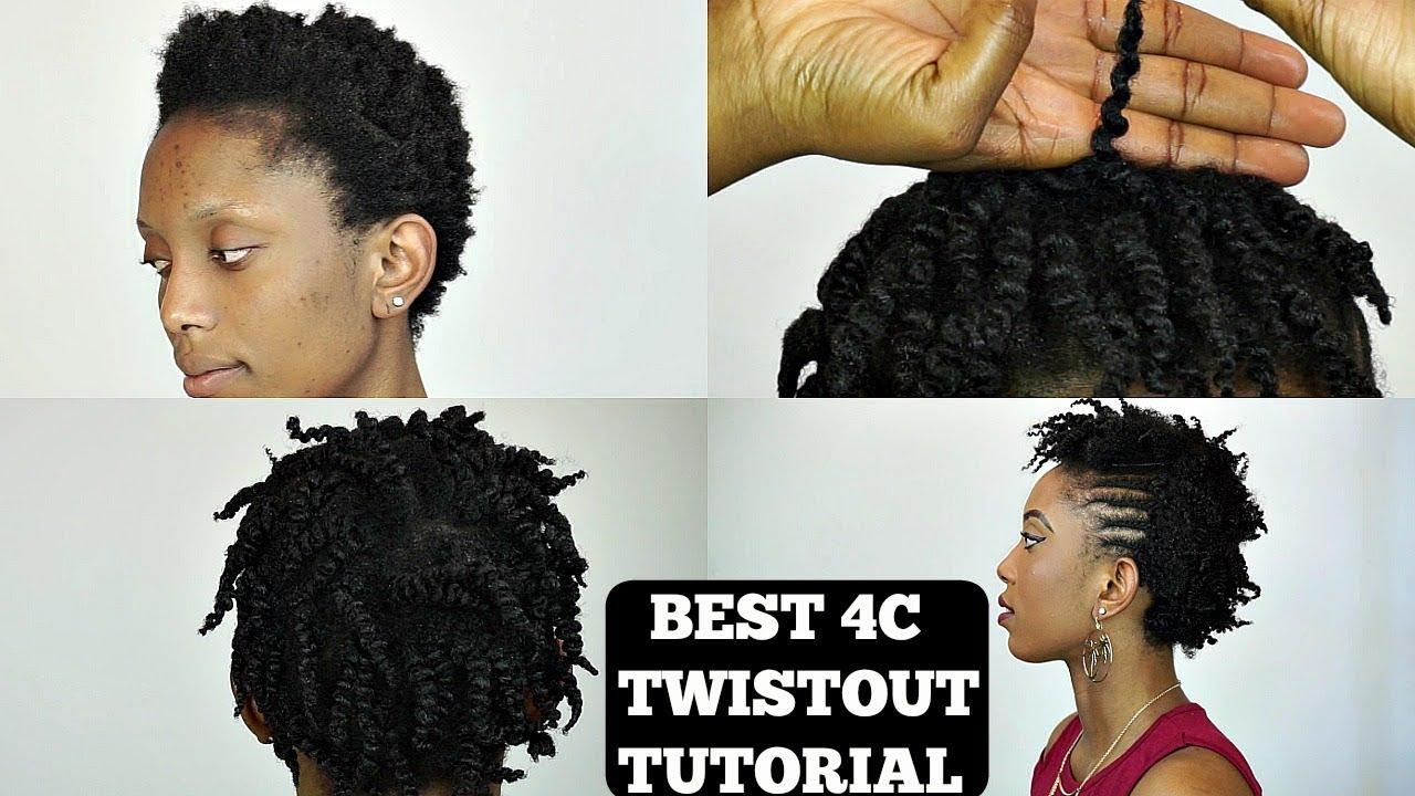 Natural Hair 4c Twist Out Cornrow Tutorial On Short Hair Youtube