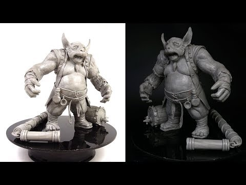 """sculpting-hero-brewmaster-from-clay-""""-satisfying-video-timelapse-""""-