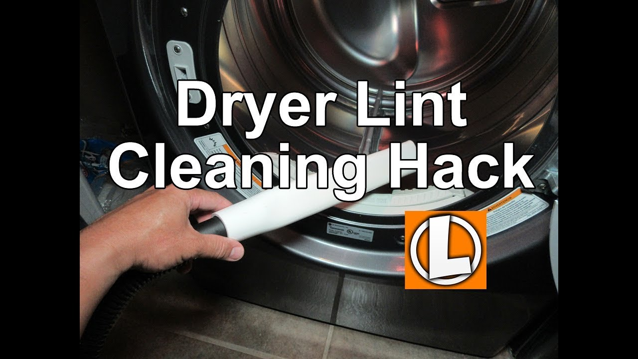 Vacuum Dryer Lint Hack Youtube - Dryer Lint Cleaner