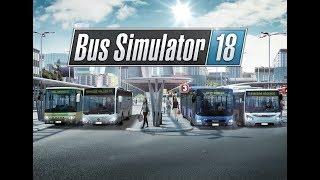 Bus Simulator 18. Начинаем карьеру водителя. #1 (руль logitech g29)