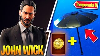 """Complete JOHN WICK CHALLENGES """"THE WICK BUTTON"""" - Fortnite"""