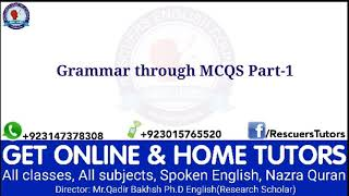 Grammar through MCQS Part1