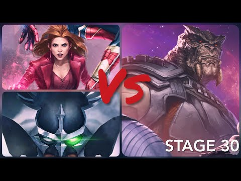 Stryfe Vs Stage 30 Cull Obsidian WBU + Scarlet witch comparison - Marvel Future Fight