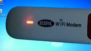 Настроить  HSPA   WIFI Modem . Отключите запрос PIN - кода на SIM карте