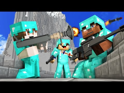 50 vs 3 ULTIMATE WAR ON HELMS DEEP IN MINECRAFT WITH REAL GUNS MODS!