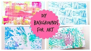 DIY - Backgrounds ideas for artwork /zentangle