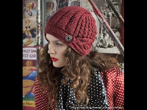 Шапочка-шлем из журнала Vogue Knitting. Часть 4