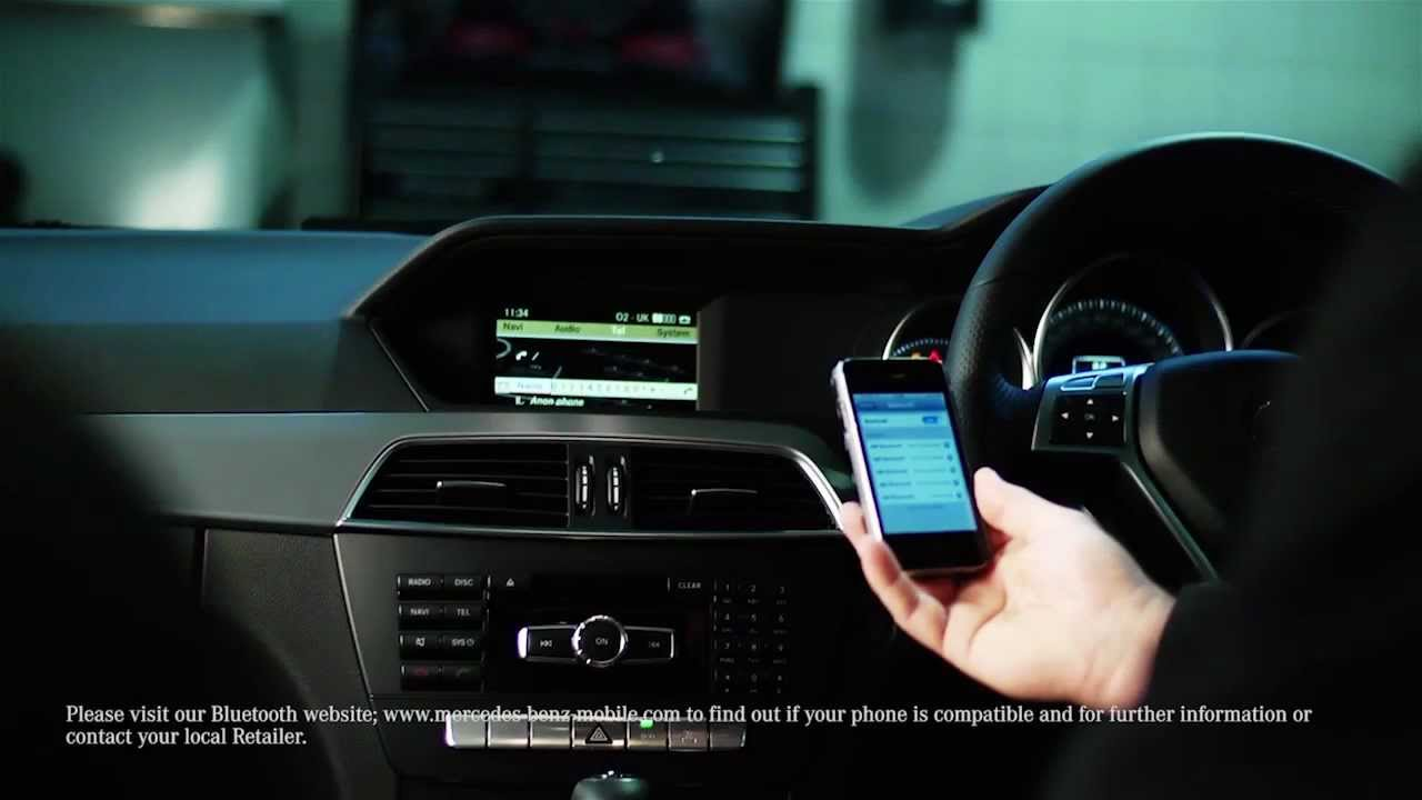 Pairing phones via bluetooth mercedes benz retail group for How to connect phone to mercedes benz