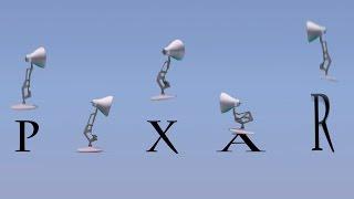73-Five Pixar Lamps Luxo Jr Attack PIXAR Luxo Jr Logo