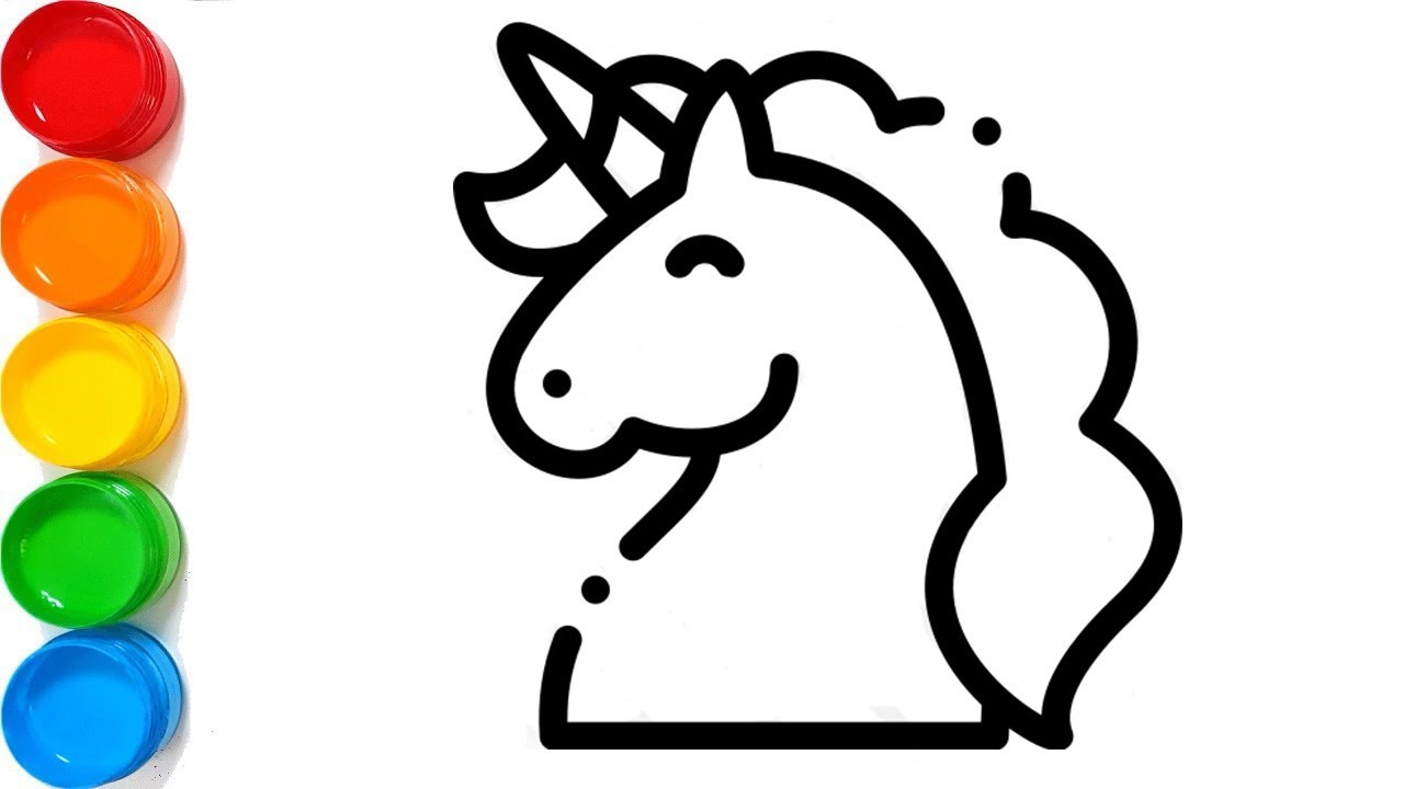 Rhinestones unicorn and cake coloring How to draw unicorn ...