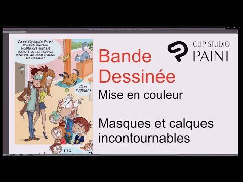 Mise en couleur d'une bande dessinée avec CLIP STUDIO PAINT