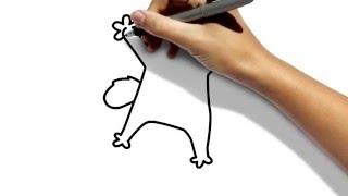 рисуем кота  Саймона карандашом поэтапно