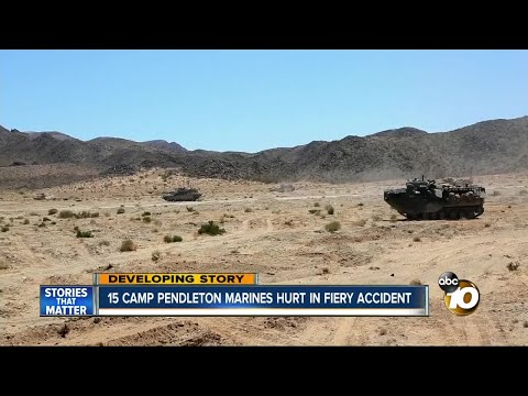 15 Camp Pendelton Marines hurt in fiery accident