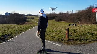 DJI Phantom 4 pro active track (speed skating) 4k
