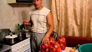 Рецепт 2  Натуральные консервированные помидоры без уксуса и другой кислоты)