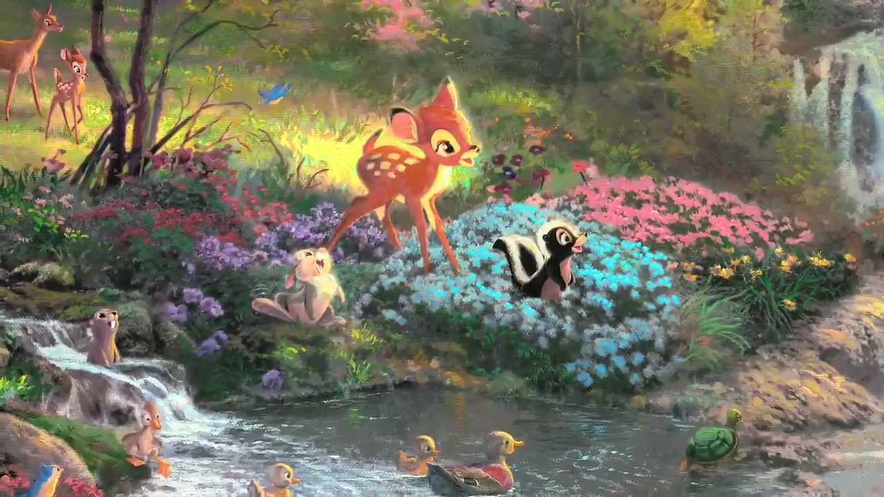 bambis first year by thomas kinkade youtube