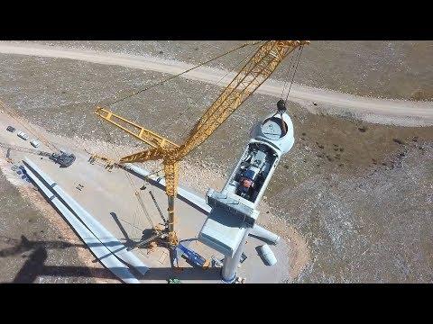 Assembling The Biggest Vestas Wind Turbine In Europe With Liebherr LTM1750 Crane By Anipsotiki SA