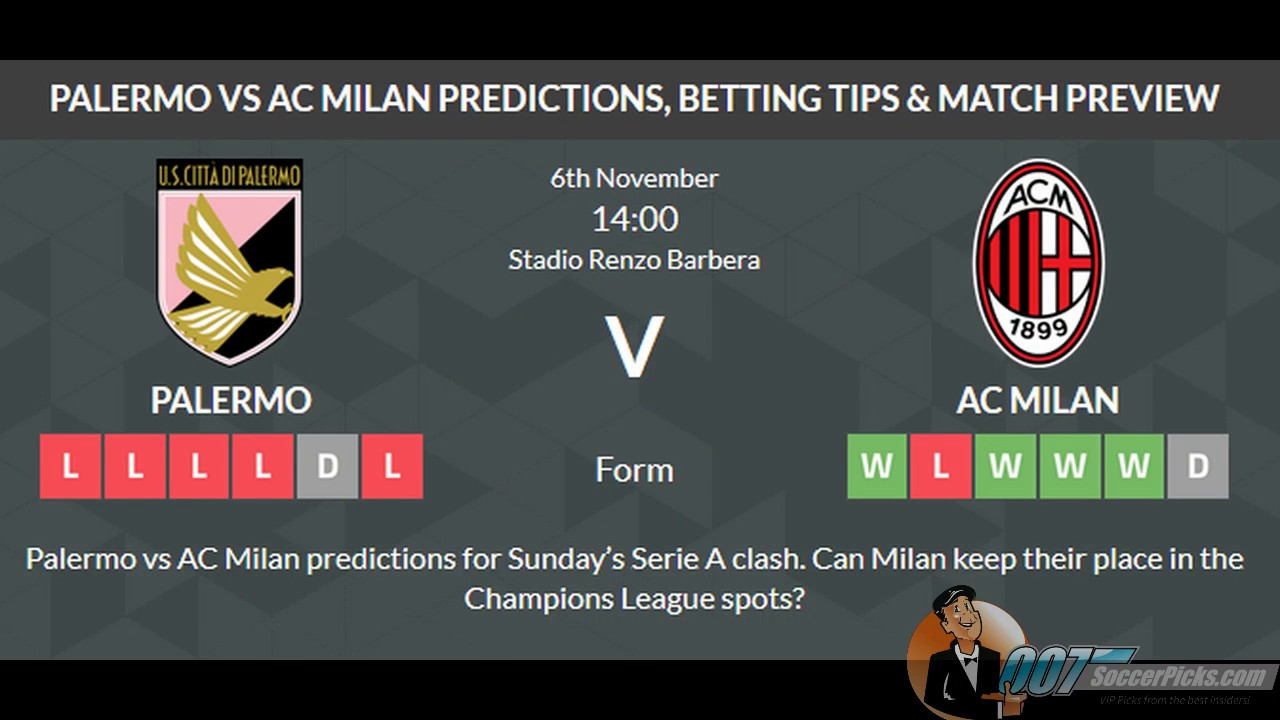 Ac milan palermo betting tips betting in india legal issues