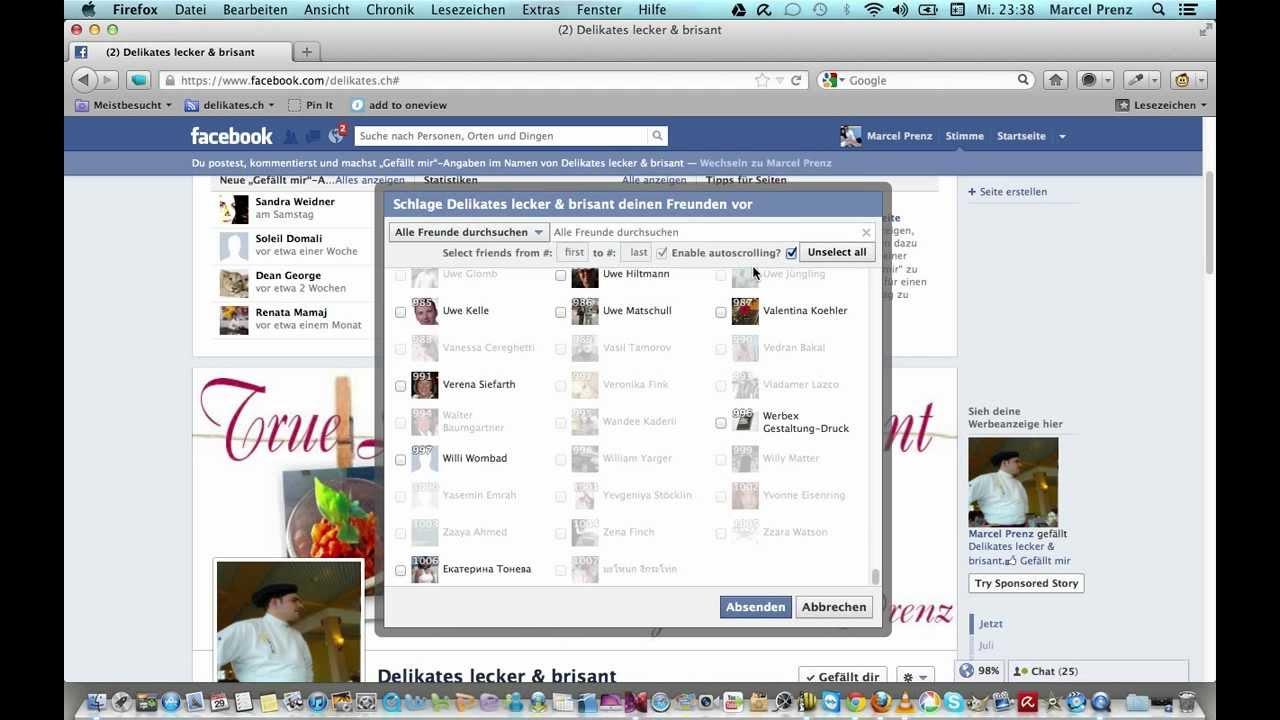 facebook - alle freunde einladen 2012 - für den firefox - youtube, Einladung