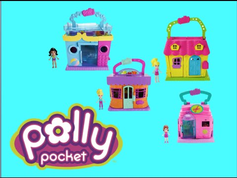 Polly Pocket Pollyville 4 Play Sets