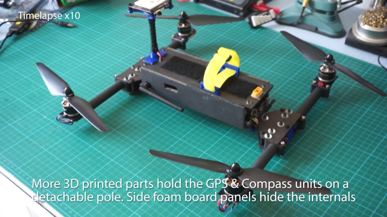 Quadcopter folding frame design and test - build tutorial - Part1 ...