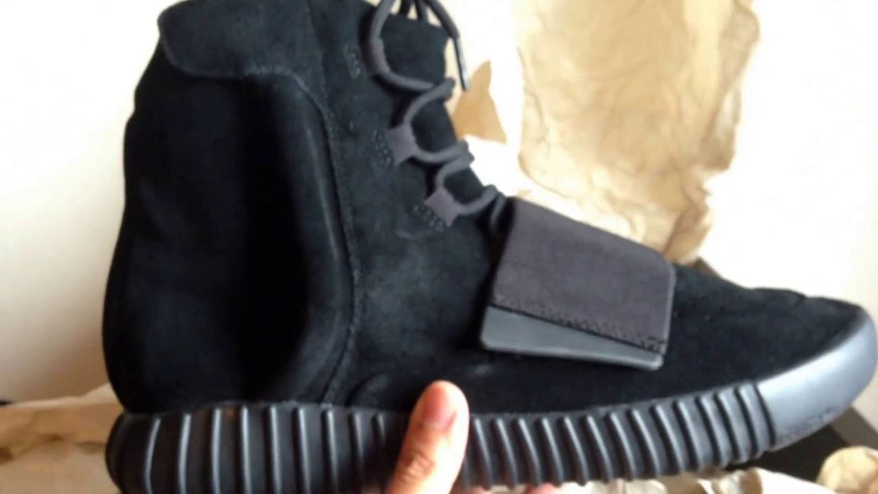 online store 38130 ca330 Unboxing Adidas Yeezy 750 Boost Triple Black