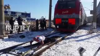 Russia  Strongman Savkin pulls 288 tonne train setting new world record