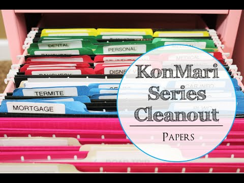 KonMari Series Cleanout: Papers