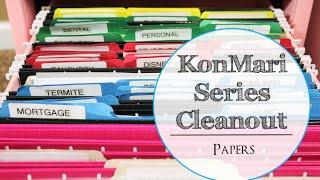KONMARI SERIES ORGANIZATION   DECLUTTER PAPERS