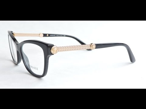 98eb1da612 Versace 3214 Eyeglasses GB1 Black - YouTube