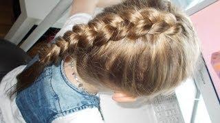 Warkocz dobierany holenderski (wypukły/odwrotny) | Dutch braid | Fryzury Dziewczęce ♡