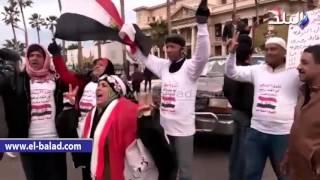 بالفيديو والصور.. العشرات يتوافدون إلى ميدان' القائد إبراهيم' احتفالا بذكرى الثورة