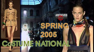 COSTUME NATIONAL Spring 2005 - Archive Fashion Runway Stock Video | Paris Fashion Week SS 05 | 720P