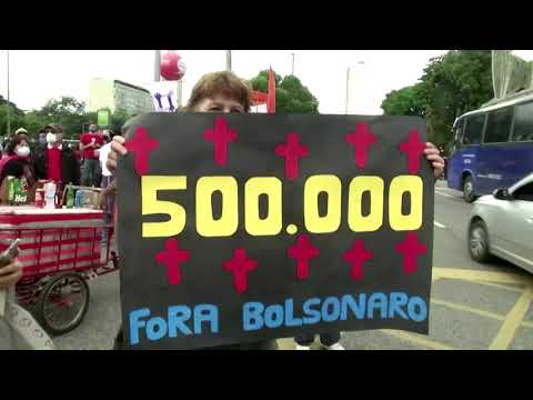 Fresh protests as Brazil passes 500,000 COVID deaths