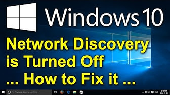 ✔️ Windows 10 - Network discovery is turned off. Network computers and devices are not visible.