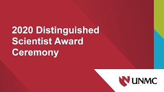2020 Distinguished Scientist Award Ceremony.